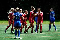 Seattle, WA -Saturday May 13, 2017: Washington Spirit  during a regular season National Women's Soccer League (NWSL) match between the Seattle Reign FC and the Washington Spirit at Memorial Stadium.