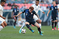 DENVER, CO - JUNE 3: Josh Sargent #9 of the United States turns with the ball during a game between Honduras and USMNT at EMPOWER FIELD AT MILE HIGH on June 3, 2021 in Denver, Colorado.