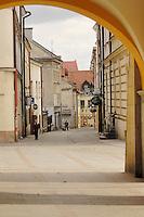 Poland, Tarnow, Street leading from Rynek, Town Square