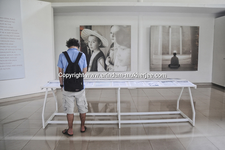 A tourist at Aurovil (the international vilage) in Pondicherry.200 families from different nations stay here is search of peace. Arindam Mukherjee.