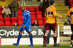 St Johnstone v Motherwell....26.01.11  .Michael Duberry walks away after winning a penalty.Picture by Graeme Hart..Copyright Perthshire Picture Agency.Tel: 01738 623350  Mobile: 07990 594431