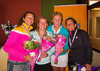 August 24, 2014, Netherlands, Amstelveen, De Kegel, National Veterans Championships,  Prize giving<br /> Photo: Tennisimages/Henk Koster