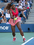 Serena Williams (USA) steamrolls Na Li (CHN) 6-0, 6-3 at the US Open being played at USTA Billie Jean King National Tennis Center in Flushing, NY on September 6, 2013