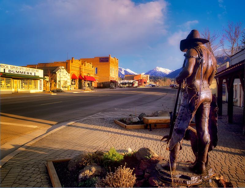 Downtown Joseph with Wallowa Mountains. Oregon
