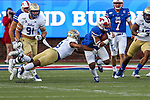 Tulsa Golden Hurricane safety Cristian Williams (3) in action during the game between the Tulsa Golden Hurricanes and the SMU Mustangs at the Gerald J. Ford Stadium in Fort Worth, Texas.