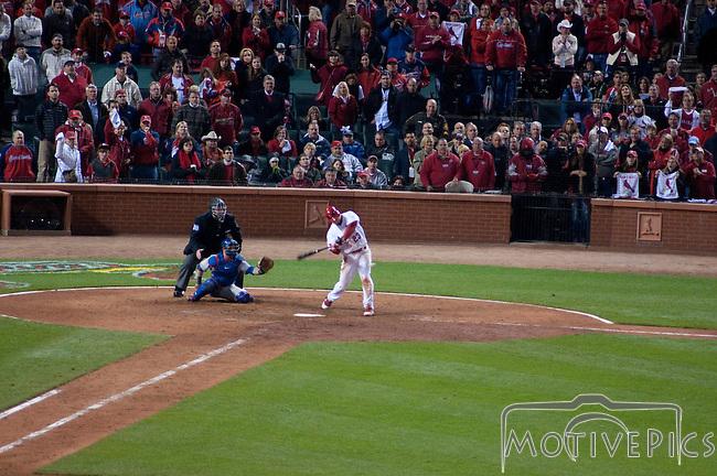 #23 David Freese's game winning walk off home run swing.  St. Louis Cardinals vs. Texas Rangers, Game 6 of the World Series 2011.  Cardinals won 10-9.