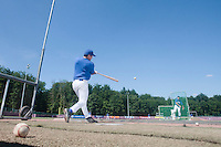 31 July 2010: Boris Marche is seen at bat prior to Greece 14-5 win over France, at the 2010 European Championship, in Heidenheim, Germany.