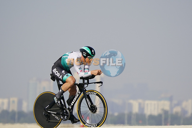 Pscal Ackermann (GER) Bora-Hansgrohe during Stage 2 of the 2021 UAE Tour an individual time trial running 13km around  Al Hudayriyat Island, Abu Dhabi, UAE. 22nd February 2021.  <br /> Picture: Eoin Clarke | Cyclefile<br /> <br /> All photos usage must carry mandatory copyright credit (© Cyclefile | Eoin Clarke)