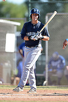 Seattle Mariners third baseman Lachlan Fontaine (40) during an instructional league game against the Kansas City Royals on October 2, 2013 at Surprise Stadium Training Complex in Surprise, Arizona.  (Mike Janes/Four Seam Images)