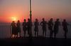silhouettes of young women in front of sunset in Puerto de Sóller<br /> <br /> siluetas de mujeres jóvenes delante la puesta del sol en Puerto de Sóller (cat.: Port Soller)<br /> <br /> Silhouetten junger Frauen vor dem Sonnenuntergang in Puerto de Sóller<br /> <br /> 2266 x 1500 px<br /> Original: 35 mm slide tranparency