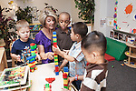 September 14, 2011. Raleigh, NC. . Kim Jackson, the head teacher for the class, starts in on the morning activities with her students.. Project Enlightenment, a public pre-kindergarten program for at risk children, has been threatened with closure due to state wide budget cuts..