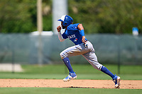 Toronto Blue Jays Hugo Cardona (26) running the bases during an Extended Spring Training game against the Philadelphia Phillies on June 12, 2021 at the Carpenter Complex in Clearwater, Florida. (Mike Janes/Four Seam Images)