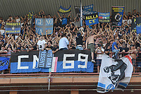 Internazionale FC Fans cheer on during the Serie A football match between UC Sampdoria and FC Internazionale at stadio Marassi in Genova (Italy), September 12th, 2021. Photo Image Sport / Insidefoto