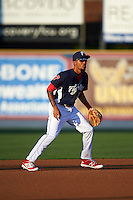 Reading Fightin Phils shortstop J.P. Crawford (2) during a game against the New Britain Rock Cats on August 7, 2015 at FirstEnergy Stadium in Reading, Pennsylvania.  Reading defeated New Britain 4-3 in ten innings.  (Mike Janes/Four Seam Images)