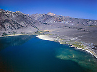 aerial photograph of the shoreline of Mono Lake, Mono County, California