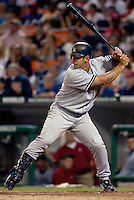 16 June 2006: Jorge Posada, catcher for the New York Yankees, in action against the Washington Nationals at RFK Stadium, in Washington, DC. The Yankees defeated the Nationals 7-5 in the first meeting of the two franchises...Mandatory Photo Credit: Ed Wolfstein Photo...