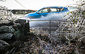 19/11/19<br /> <br /> After overnight temperatures plummet below zero, a car splashes through roadside puddles helping to add ice to an already frozen hedgerow and five bar gate in Calwich near Ashbourne Derbyshire. <br /> <br /> <br /> All Rights Reserved: F Stop Press Ltd.  <br /> +44 (0)7765 242650 www.fstoppress.com