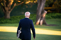U.S. President Joe Biden walks on the South Lawn of the White House before boarding Marine One in Washington, D.C., U.S., on Friday, Sept. 24, 2021. Biden and the leaders of Australia, India, and Japan made a show of unity against China today, meeting together at the White House in a first-ever summit to discuss initiatives to counter Beijing's influence across the Pacific. Photographer: Al Drago/Bloomberg<br /> Credit: Al Drago / Pool via CNP /MediaPunch