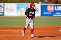 Chattanooga Lookouts second baseman Leonardo Rivas (3) on base against the Tennessee Smokies at Smokies Stadium on June 18, 2021, in Kodak, Tennessee. (Danny Parker/Four Seam Images)