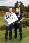Gary McAllister with Kris Boyd of Rangers at Glenbervie Golf Club as they look ahead to next week's Rangers v Hibs clash at Ibrox