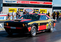 Sep 4, 2020; Clermont, Indiana, United States; NHRA factory stock driver Leah Pruett during qualifying for the US Nationals at Lucas Oil Raceway. Mandatory Credit: Mark J. Rebilas-USA TODAY Sports