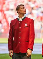 Manuel NEUER, FCB 1  Halbfigur ,  , Einzel, Portrait, Portraet, Einzel   <br /> FC BAYERN MUENCHEN - VFB STUTTGART 1-4<br /> Football 1. Bundesliga , Muenchen,12.05.2018, 34. match day,  2017/2018, , 28.Meistertitel, <br />   *** Local Caption *** © pixathlon
