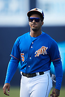 Wander Franco (5) of the Durham Bulls prior to the game against the Jacksonville Jumbo Shrimp at Durham Bulls Athletic Park on May 15, 2021 in Durham, North Carolina. (Brian Westerholt/Four Seam Images)