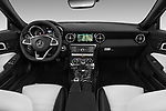 Stock photo of straight dashboard view of a 2018 Mercedes Benz SLC AMG Line 2 Door Convertible