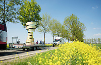 flyby in the feedzone of the giant Giro Trophy (in the advertising parade) <br /> <br /> stage 2: Arnhem-Nijmegen (NLD) 190km<br /> 99th Giro d'Italia 2016