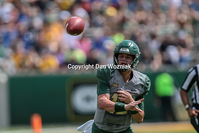 Baylor Bears quarterback Charlie Brewer (12) in action before the game between the Duke Blue Devils and the Baylor Bears at the McLane Stadium in Waco, Texas.