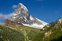 The Matterhorn or Monte Cervino mountain peak, Zermatt, Switzerland