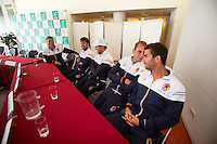September 11, 2014, Netherlands, Amsterdam, Ziggo Dome, Davis Cup Netherlands-Croatia, Draw, Dutch team <br /> Photo: Tennisimages/Henk Koster