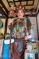 Wenzhou, China.  Jiangxin Buddhist Temple.  Duo Wen Tianwang, Chief of the four heavenly kings, and King of the North.