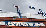 Union Flag and Saltire on the main stand