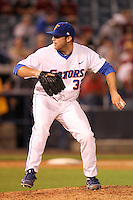 """Florida Gators Steven Rodriguez #32 during a game vs. the Florida State Seminoles in the """"Florida Four"""" at George M. Steinbrenner Field in Tampa, Florida;  March 1, 2011.  Florida State defeated Florida 5-3.  Photo By Mike Janes/Four Seam Images"""