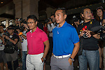 Celebrities arriving during the Mission Hills Celebrity Pro-Am on 23 October 2014, in Haikou, China. Photo by Aitor Alcalde / Power Sport Images