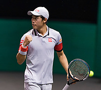 Rotterdam, The Netherlands, 3 march  2021, ABNAMRO World Tennis Tournament, Ahoy, First round singles: Kei Nishikori (JPN) Alex De Minaur (AUS).<br /> Photo: www.tennisimages.com/henkkoster