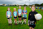 Enjoying their first day at the Kerry GAA Cúl Camps in Connelly Park on Monday morning, l to r: Jane Gentleman, Roisin Sheehy, Penny Costello, Aine Gibbins and Ella O'Sullivan.