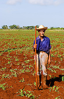 Simple farmer portait working fields in Havana Provence outdoors near Havana Cuba Habana