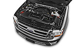 Car Stock 2017 Ford Expedition XLT 5 Door SUV Engine high angle detail view