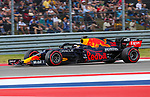 Red Bull Racing Honda driver Max Verstappen (33) of Team Netherlands in action during the Formula 1 Aramco United States Grand Prix practice session held at the Circuit of the Americas racetrack in Austin,Texas.