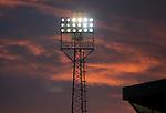 St Johnstone v Hamilton Accies…30.12.20   McDiarmid Park     SPFL<br />A colourful sky over McDiuarmid Park asthe sun sets<br />Picture by Graeme Hart.<br />Copyright Perthshire Picture Agency<br />Tel: 01738 623350  Mobile: 07990 594431