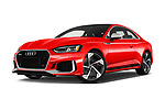 Low aggressive front three quarter view of a 2019 Audi RS5 4WD 2 Door Coupe