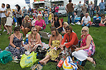 The Derby horse race. Epsom Down Surrey UK. Ladies Day group.