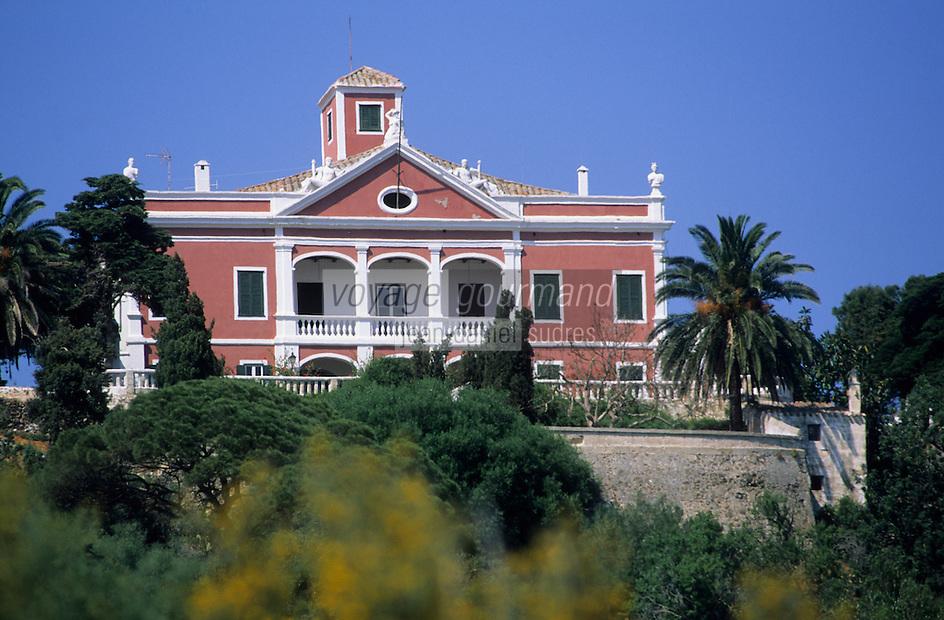 """Europe/Espagne/Baléares/Minorque/Env de Mahon : Domaine de Sant Antoni ou """"Golden Farm"""" - Villa de style georgien"""