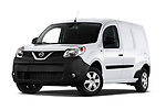 Stock pictures of low aggressive front three quarter view of 2020 Nissan NV250 Visia 5 Door Car Van Low Aggressive