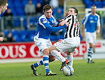 St Johnstone v St Mirren.....23.02.13      SPL.Paddy Cregg and John McGinn.Picture by Graeme Hart..Copyright Perthshire Picture Agency.Tel: 01738 623350  Mobile: 07990 594431