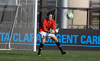 Nicole Barnhart makes the save. FC Gold Pride tied the Chicago Red Stars 1-1 at Buck Shaw Stadium in Santa Clara, California on June 7th, 2009.