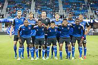 San Jose, CA - October 16, 2015:  San Jose Earthquakes vs Sporting Kansas City on Friday Night at Avaya Stadium. San Jose defeated Kansas City 1-0.