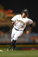 Bradenton Marauders outfielder Justin Maffei (26) running the bases during a game against the Jupiter Hammerheads on April 17, 2015 at McKechnie Field in Bradenton, Florida.  Bradenton defeated Jupiter 11-6.  (Mike Janes/Four Seam Images)
